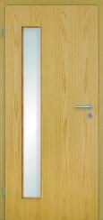 Echtholz furniert Eiche hell mit Lichtausschnitt LA008BS