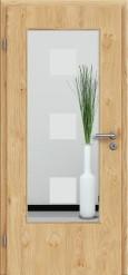 Tür Edelfurnier Eiche astig natur geölt mit Sandstrahlmotiv SAND 1