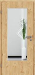 Tür Edelfurnier Eiche astig natur geölt mit Sandstrahlmotiv SAND 10