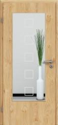 Tür Edelfurnier Eiche astig natur geölt mit Sandstrahlmotiv SAND 12