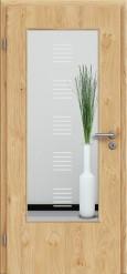 Tür Edelfurnier Eiche astig natur geölt mit Sandstrahlmotiv SAND 13