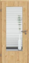 Tür Edelfurnier Eiche astig natur geölt mit Sandstrahlmotiv SAND 17