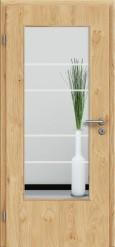 Tür Edelfurnier Eiche astig natur geölt mit Sandstrahlmotiv SAND 29