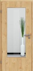 Tür Edelfurnier Eiche astig natur geölt mit Sandstrahlmotiv SAND 3