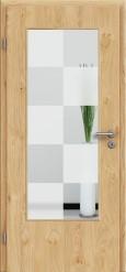 Tür Edelfurnier Eiche astig natur geölt mit Sandstrahlmotiv SAND 30