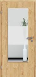 Tür Edelfurnier Eiche astig natur geölt mit Sandstrahlmotiv SAND 33