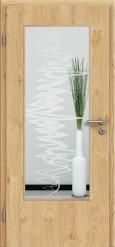 Tür Edelfurnier Eiche astig natur geölt mit Sandstrahlmotiv SAND 37