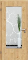 Tür Edelfurnier Eiche astig natur geölt mit Sandstrahlmotiv SAND 38
