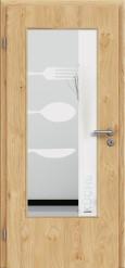 Tür Edelfurnier Eiche astig natur geölt mit Sandstrahlmotiv SAND 52