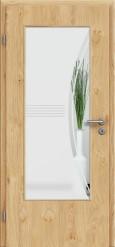 Tür Edelfurnier Eiche astig natur geölt mit Sandstrahlmotiv SAND 6