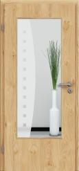 Tür Edelfurnier Eiche astig natur geölt mit Sandstrahlmotiv SAND 9