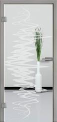 Ganzglastür mit Sandstrahlmotiv SAND 37