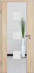 Holzglastür CPL Akazie mit Sandstrahlmotiv SAND 1