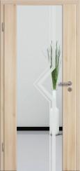 Holzglastür CPL Akazie mit Sandstrahlmotiv SAND 10