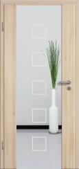 Holzglastür CPL Akazie mit Sandstrahlmotiv SAND 12