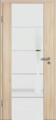 Holzglastür CPL Akazie mit Sandstrahlmotiv SAND 18