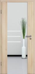 Holzglastür CPL Akazie mit Sandstrahlmotiv SAND 28