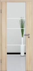 Holzglastür CPL Akazie mit Sandstrahlmotiv SAND 29