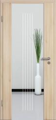 Holzglastür CPL Akazie mit Sandstrahlmotiv SAND 3