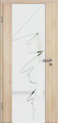 Holzglastür CPL Akazie mit Sandstrahlmotiv SAND 36