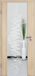 Holzglastür CPL Akazie mit Sandstrahlmotiv SAND 37