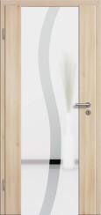 Holzglastür CPL Akazie mit Sandstrahlmotiv SAND 50