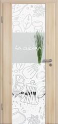 Holzglastür CPL Akazie mit Sandstrahlmotiv SAND 513