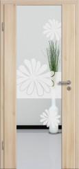 Holzglastür CPL Akazie mit Sandstrahlmotiv SAND 57