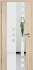 Holzglastür CPL Akazie mit Sandstrahlmotiv SAND 8
