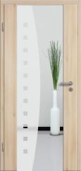 Holzglastür CPL Akazie mit Sandstrahlmotiv SAND 9