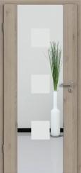 Holzglastür CPL Natural Touch Pinie Silvergrey mit Sandstrahlmotiv SAND 1