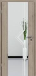 Holzglastür CPL Natural Touch Pinie Silvergrey mit Sandstrahlmotiv SAND 10