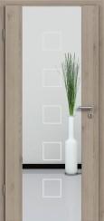 Holzglastür CPL Natural Touch Pinie Silvergrey mit Sandstrahlmotiv SAND 12