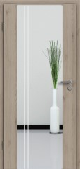 Holzglastür CPL Natural Touch Pinie Silvergrey mit Sandstrahlmotiv SAND 23
