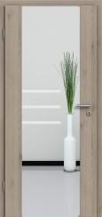 Holzglastür CPL Natural Touch Pinie Silvergrey mit Sandstrahlmotiv SAND 28