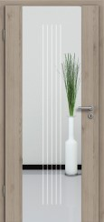 Holzglastür CPL Natural Touch Pinie Silvergrey mit Sandstrahlmotiv SAND 3