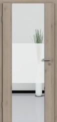 Holzglastür CPL Natural Touch Pinie Silvergrey mit Sandstrahlmotiv SAND 33