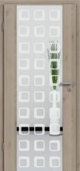 Holzglastür CPL Natural Touch Pinie Silvergrey mit Sandstrahlmotiv SAND 35
