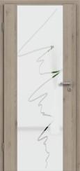 Holzglastür CPL Natural Touch Pinie Silvergrey mit Sandstrahlmotiv SAND 36