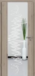 Holzglastür CPL Natural Touch Pinie Silvergrey mit Sandstrahlmotiv SAND 37