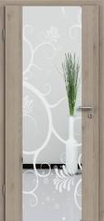 Holzglastür CPL Natural Touch Pinie Silvergrey mit Sandstrahlmotiv SAND 38