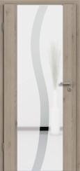 Holzglastür CPL Natural Touch Pinie Silvergrey mit Sandstrahlmotiv SAND 50