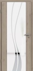 Holzglastür CPL Natural Touch Pinie Silvergrey mit Sandstrahlmotiv SAND 51