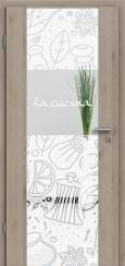 Holzglastür CPL Natural Touch Pinie Silvergrey mit Sandstrahlmotiv SAND 53
