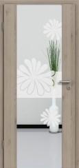 Holzglastür CPL Natural Touch Pinie Silvergrey mit Sandstrahlmotiv SAND 57