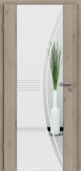 HolzglastürCPL Natural Touch Pinie Silvergrey mit Sandstrahlmotiv SAND 6