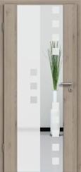 Holzglastür CPL Natural Touch Pinie Silvergrey mit Sandstrahlmotiv SAND 8
