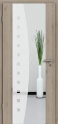 Holzglastür CPL Natural Touch Pinie Silvergrey mit Sandstrahlmotiv SAND 9