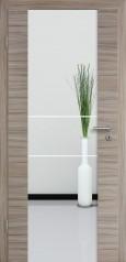 Holzglastür CPL Akazie Steingrau gebürstet mit Sandstrahlmotiv SAND 21