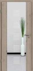 Holzglastür CPL Natural Touch Pinie Silvergrey mit Sandstrahlmotiv SAND 13